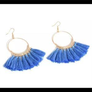 Jewelry - 🚨 5/$20 Blue fringe tassel earrings
